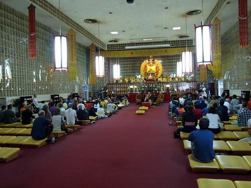 Dharma Talk inside the Main Hall