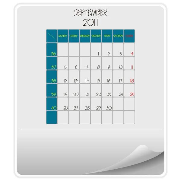 calendar september 2011. 2011 calendar september