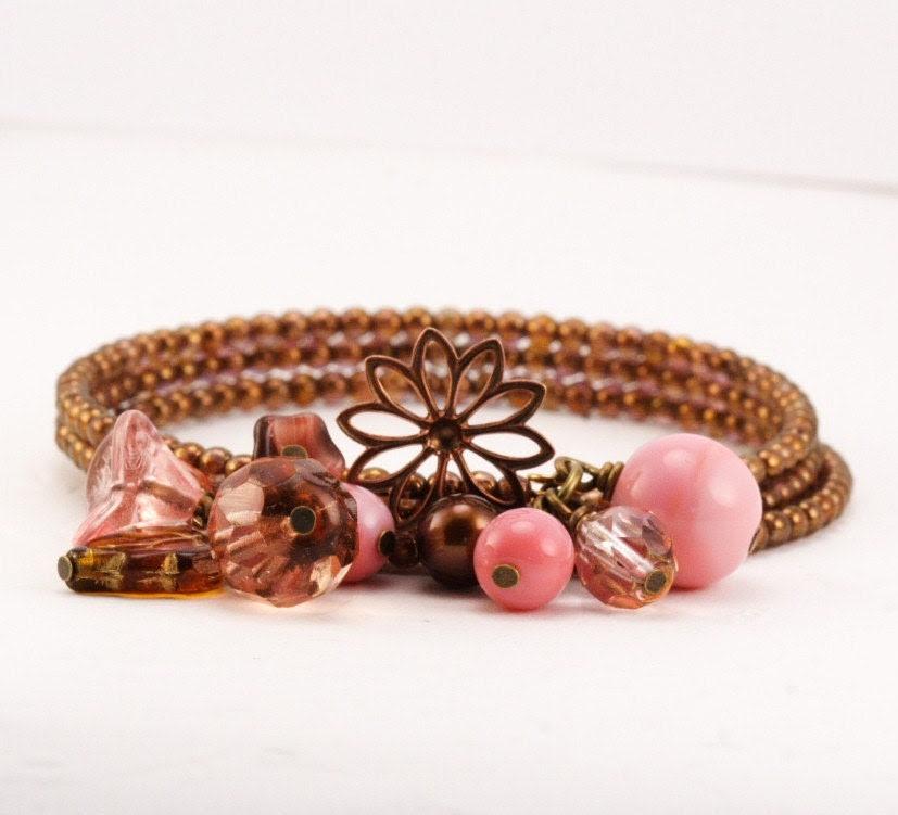 Pink Lemonade Posy Bracelet