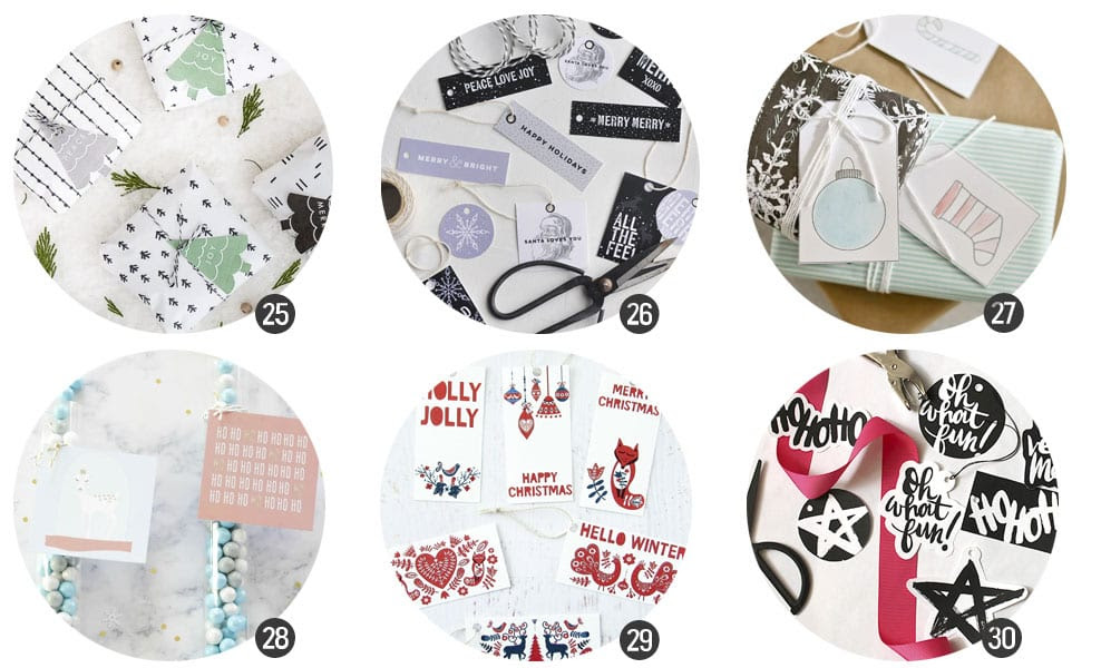 Imprimibles: Etiquetas de regalo