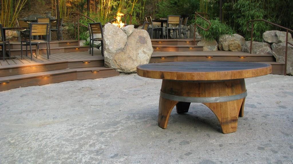 New Wine Barrel Coffee Table Hungarian Workshop