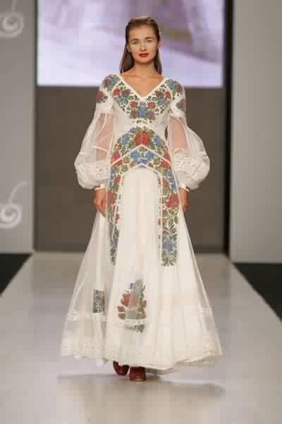 Wedding dress by Ukrainian designer Roksolana Bogutska