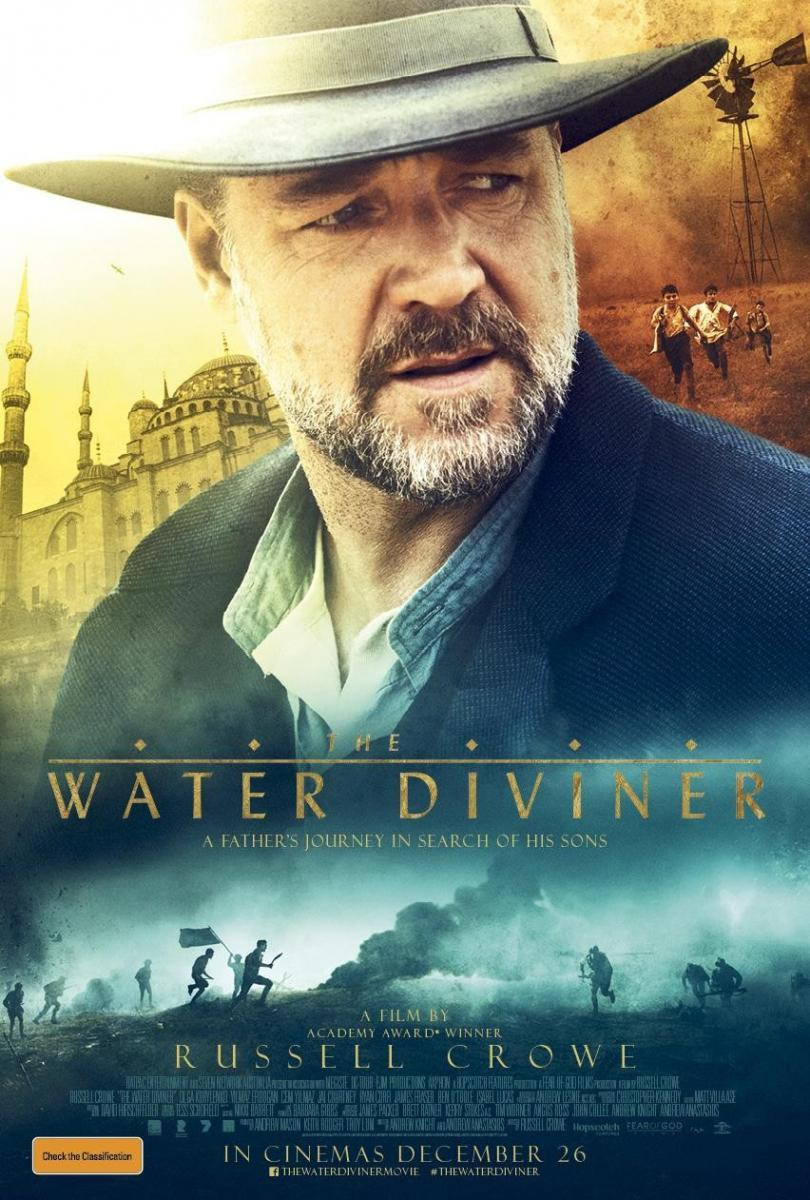 El maestro del agua, The water diviner, película, cine, cartel, bélica, romance, histórica,