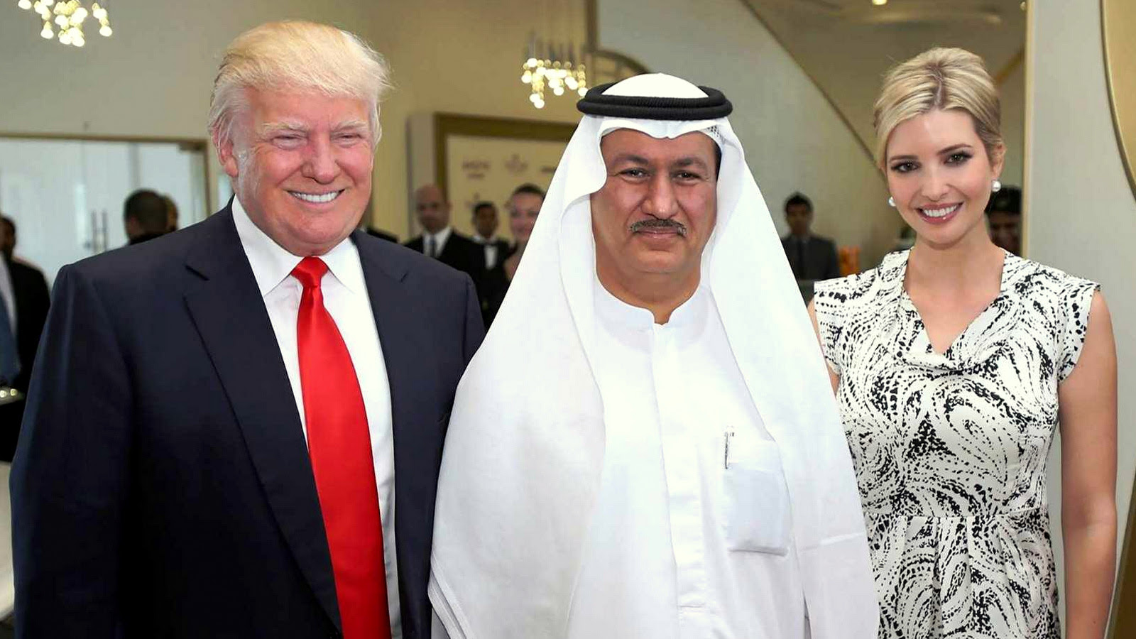 Ivanka Trump, DAMAC CEO Hussain Sajwani, and Donald Trump. (DAMAC Group)