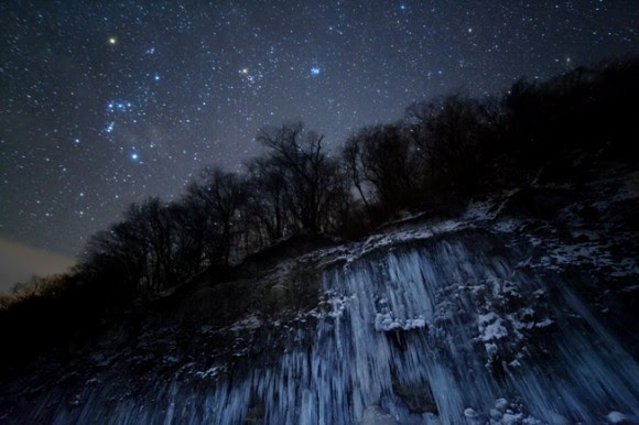 Winning photograph in the Earth and Space category in the 2012 Astronomy Photographer of the Year Competition,  'Star Icefall' by Masahiro Miyasaka (Japan).