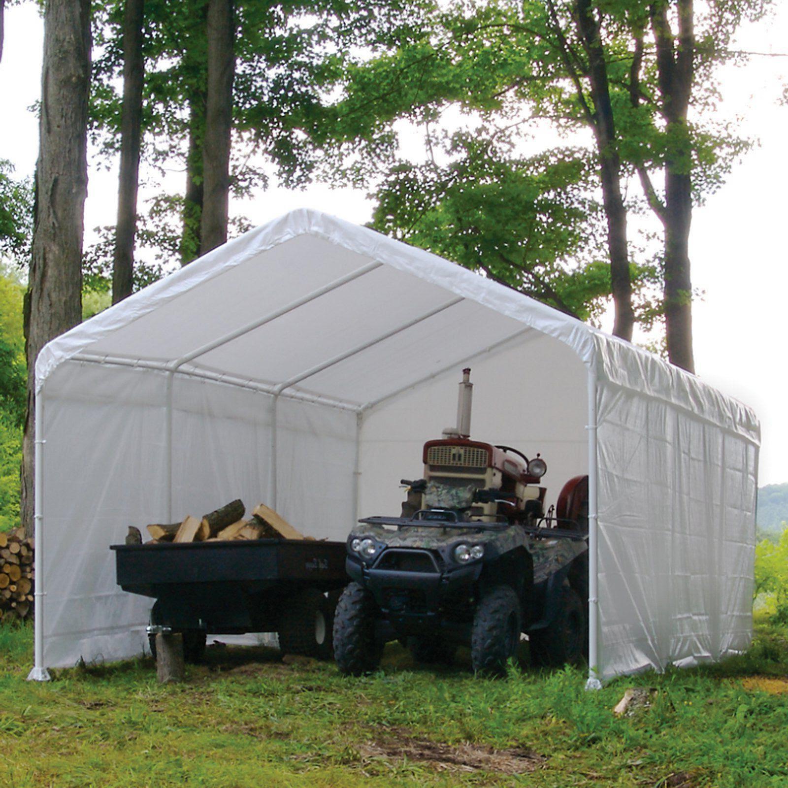 Canopy Enclosure Kit 12x20 Car Port Cover Portable