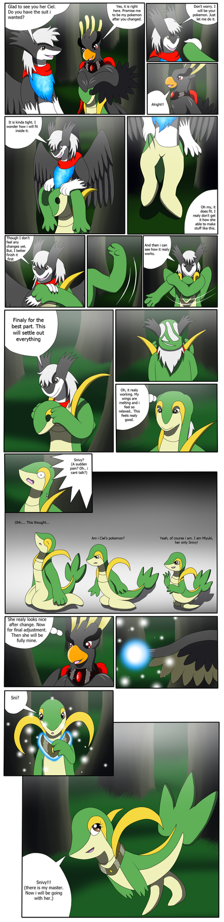 Comission: Snivy Suit (Snivy TF TG) by Avianine on DeviantArt