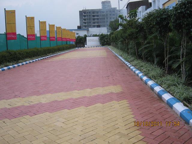 Paved way to the site office of Kalpataru Serenity, 1 BHK 2 BHK 3 BHK Flats, opp. Navratna Mangal Karyalay, Mahadev Nagar, near All India Radio, Manjri, Pune 412 307