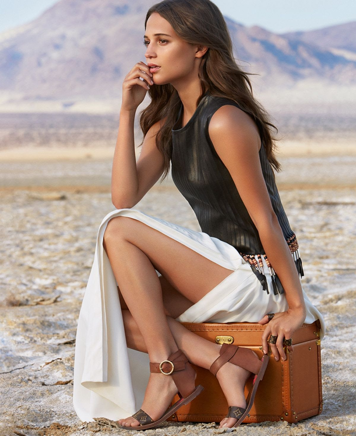 ALICIA VIKANDER for Louis Vuitton Spirit of Travel Campaign