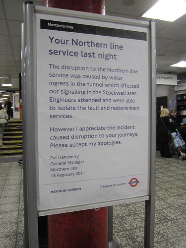 Northern Line - Apology