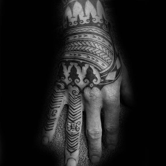 40 Tribal Hand Tattoos For Men Manly Ink Design Ideas