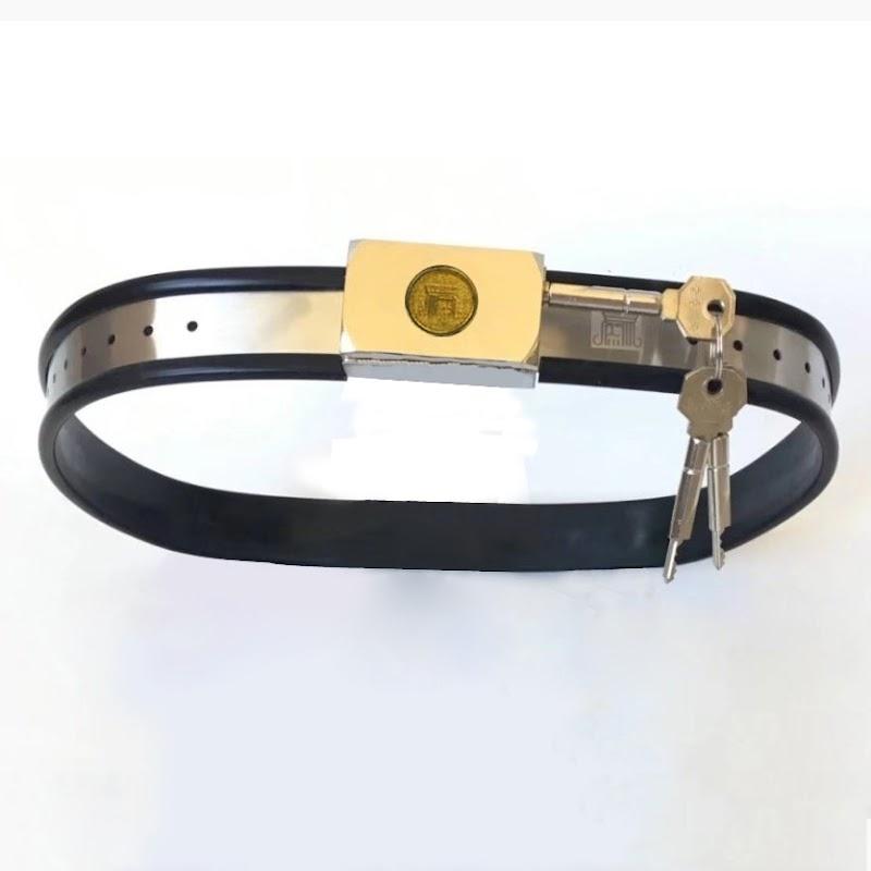 Hot  Adjustable Stainless Steel Chastity Belt Metal Bondage Waistband Restraints For Women Men Fetish Ad