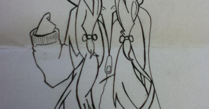 Hoodie Cute Anime Girl Drawings Easy