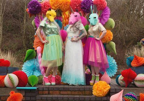 Unicorn Wedding Ideas, cake, dress, favours toppers, invites