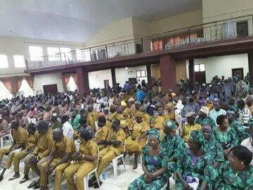 Image result for Ekiti PDP Primary: Delegates Appear In Aso-Ebi