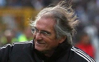 Al-Ahly coach Manuel Jose before the game with al-Masry