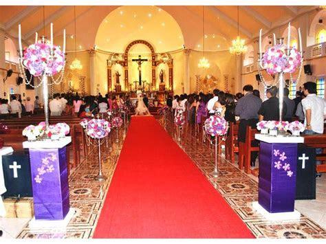 Wedding ceremony at Our Lady of Lourdes Church, Tagaytay