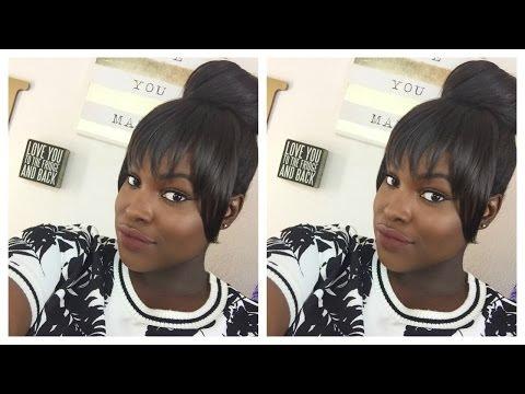 YouTube : Hair Tutorial | Bun & Faux Bangs