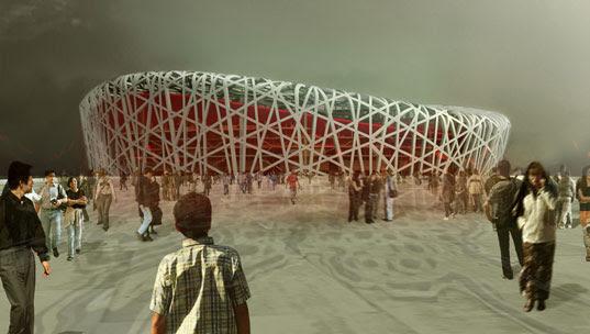 Beijing Olympic Stadium, Beijing Olympics 2008, Birds Nest building, Herzog DeMeuron, Herzog De Meuron