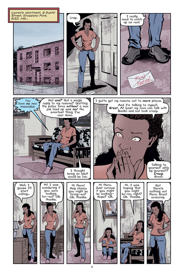 Wolf's Head Issue 2 Sample Page Written and Illustrated by Von Allan
