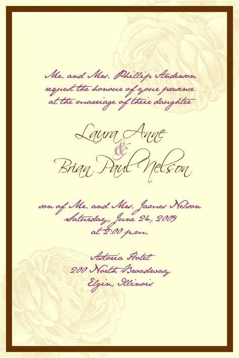 ideas  formal wedding invitation wording