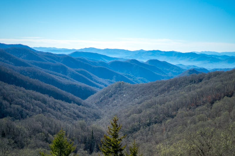His next stop was Shenandoah National Park in Virginia, where he drove all 105 miles of the scenic Skyline Drive.