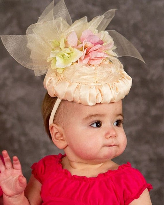 Why Yes, I am a Lady Baby Hat, Easter, Birthday, Tea Party, Fascinator Hat for Babies and Little Girls