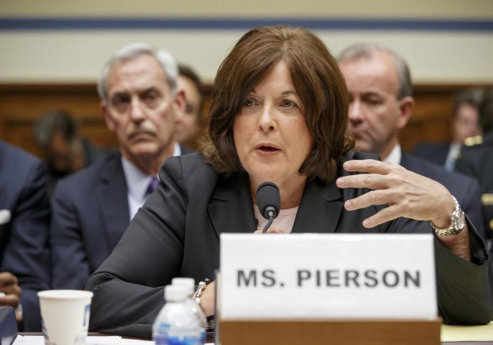 Julia Pierson testificó este martes en el Capitolio, en Washington, luego de conocerse varias fallas en la seguridad del mandatario estadunidense. FOTO: AP