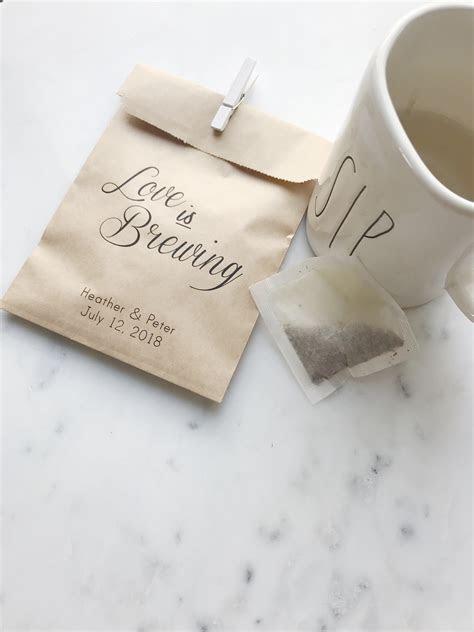 Love Brewing Wedding Favor Bags   SALTED Design Studio