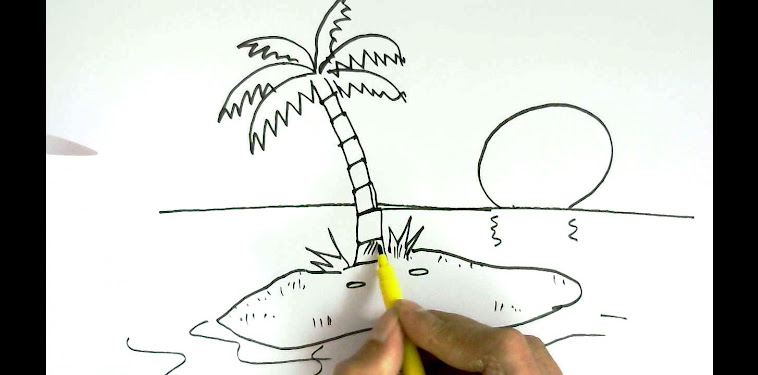 Island Drawing Easy For Kids