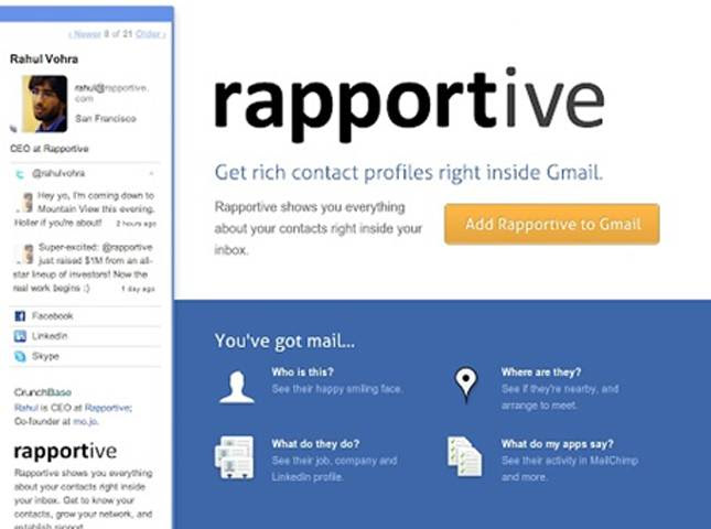 rapportive 15 FREE TOOLS FOR SMEs AND STARTUPS TO HELP IN DIGITAL MARKETING!