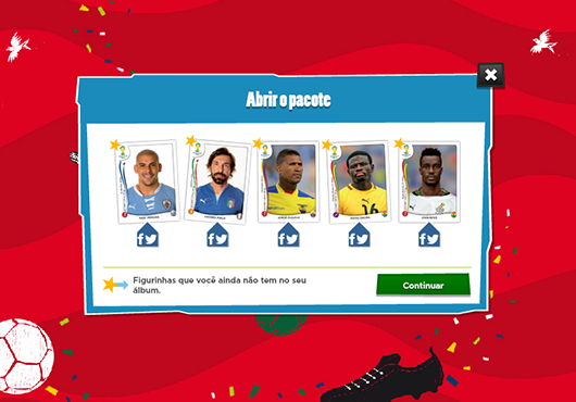 screenshot de Álbum Virtual da Copa do Mundo 2014