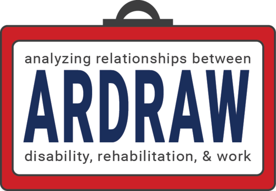 Logo for ARDRAW: Analyzing Relationships between disability, rehabilitation, and work