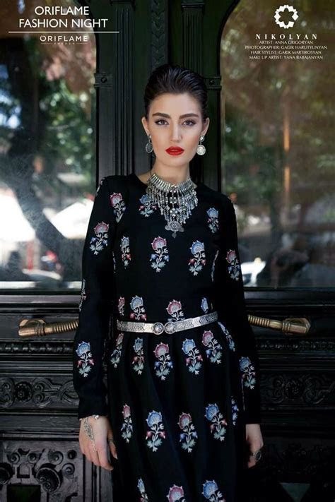 Modern clothes with Armenian traditional Urfa embroidery
