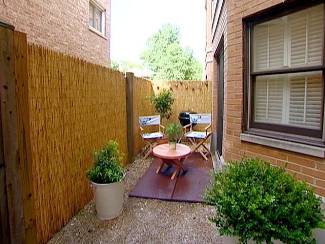 Very Small Patio Ideas with Fence
