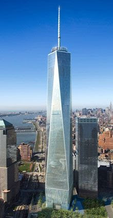 An artist's concept of the 1 World Trade Center in New York.
