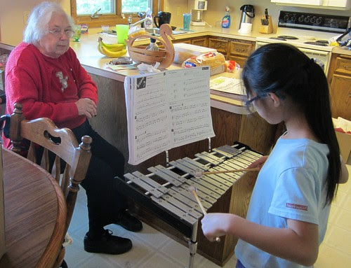 Olivia Playing the Glockenspiel