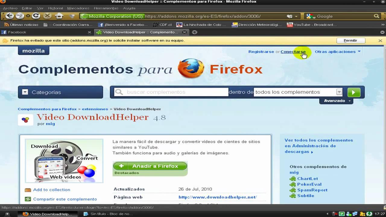 complemento firefox descargar mp3