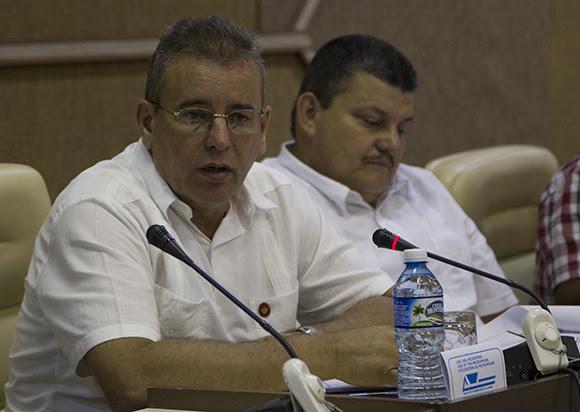 Comisión Agroalimentaria, Gustavo Rodríguez Rollero, ministro de la Agricultura. Foto: Ismael Francisco/ Cubadebate