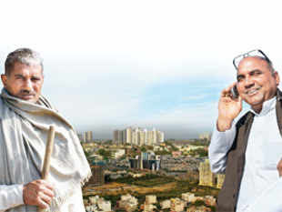 ET Magazine travels to four such realty hotspots to capture the activity on the ground. First up: Gurgaon, the land of crorepatis and cowherds.