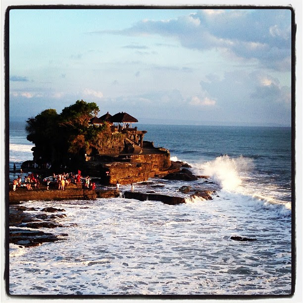 Beautiful Tanah Lot. Fourth time to #bali, first time to #tanahlot #travel #sunset #sea #beach #holiday