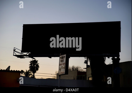 Digital Billboard At Dusk In Los Angeles Stock Photo, Royalty Free ...