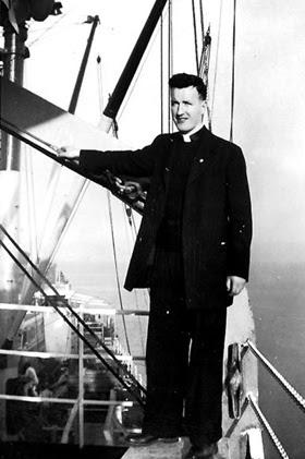60년 전 아일랜드 선교사로 한국 제주도에 부임하던 즈음의 패트릭 맥그린치 신부.