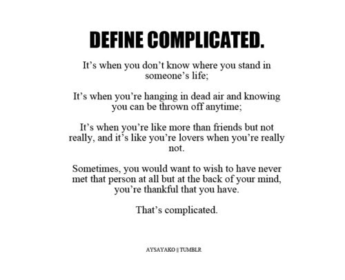 Complicated Love Quotes Tumblr Quotes