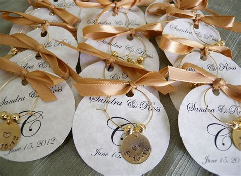 Wedding Favors Personalized Wine Charms, Custom words