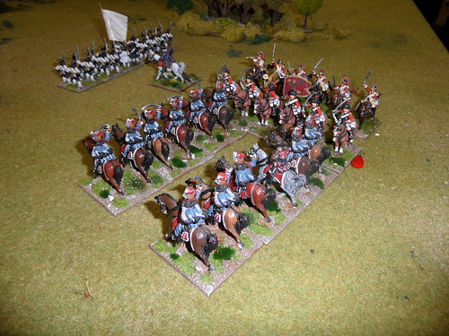 Sweeping advance into French cavalry reserve