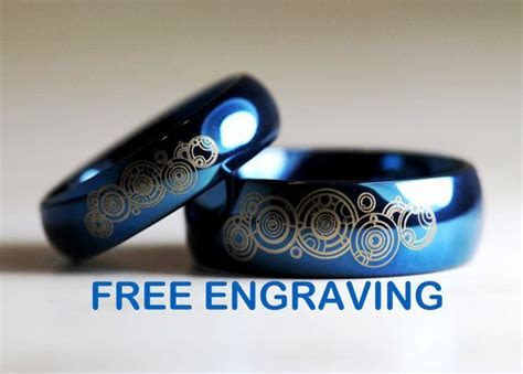 Top Quality Tungsten Carbide His/Hers, Deep Ocean Blue
