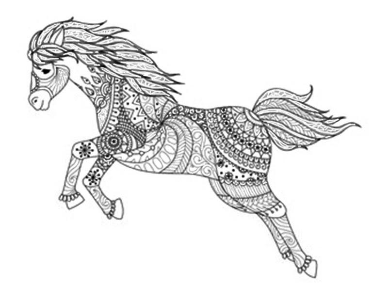 Pferde 2 | Ausmalbilder für Erwachsene