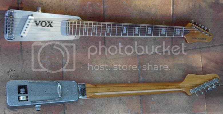 guitar blog vox winchester guitar has metal body made from wah wah pedal chassis. Black Bedroom Furniture Sets. Home Design Ideas