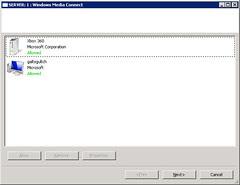 Windows Media Connect - Configuration